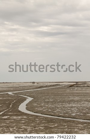 Soil beneath the sea - stock photo