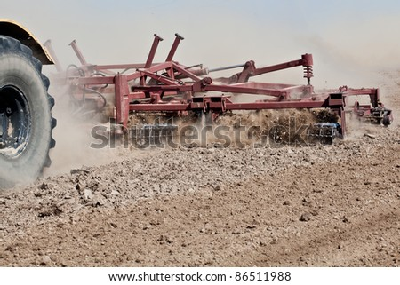 Soil cultivation during agriculture works