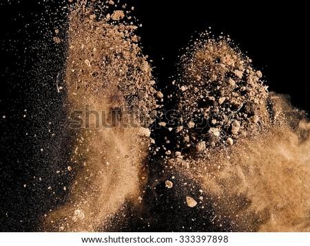 Soil explosion - stock photo