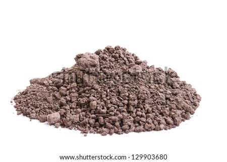 soil for seedling on a white background - stock photo