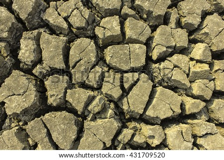 soil Ground parched dry land Background patterned ground dry for design texture pattern and background. - stock photo