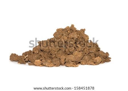 Soil on a white background. - stock photo