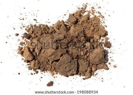 Soil on white background  - stock photo