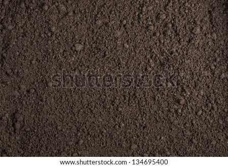 Soil texture background - stock photo