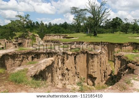 Soil Textures, Ratchaburi, Thailand - stock photo