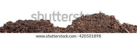 Soils for plants. isolated on white background - stock photo