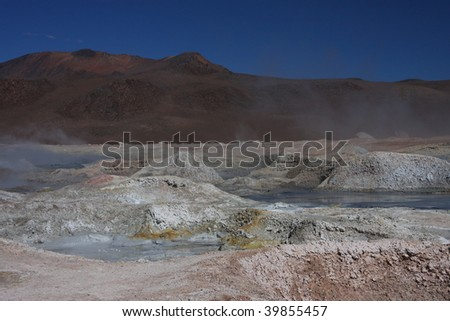 Sol de Manana Geyser on the Sud Lipez Altiplano