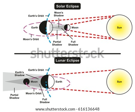 Solar lunar eclipse comparison infographic diagram stock solar and lunar eclipse comparison infographic diagram with all parts including sun earth moon showing full ccuart Image collections