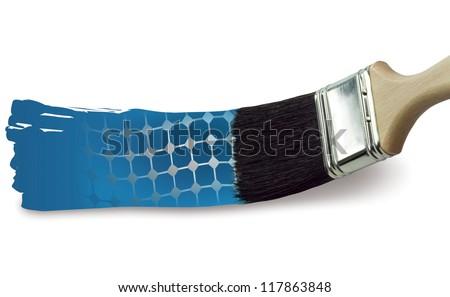 solar brush stroke - stock photo