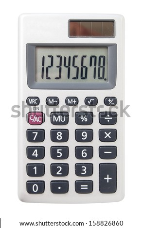 solar calculator on a white background