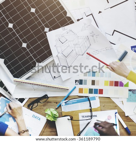 Solar Cell Energy Environmental Power Generator Concept - stock photo