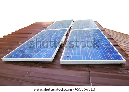 solar cell on the roof, Thailand