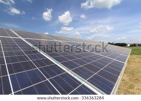 Solar cell or Photovoltaic panels - stock photo
