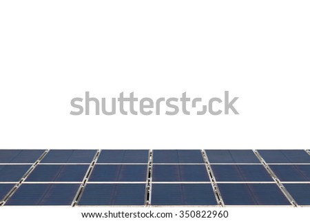 solar cell panel on  white background , Energy saving concept - stock photo