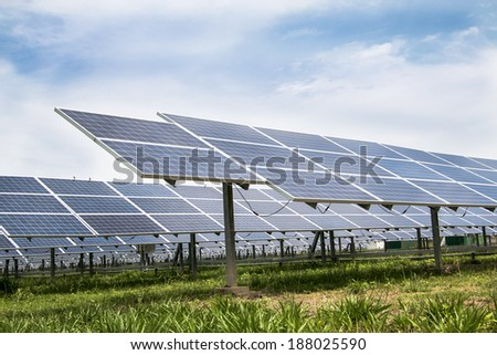 Solar cell panels farm
