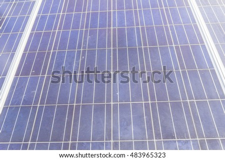 Solar cell surface on site after used for many years