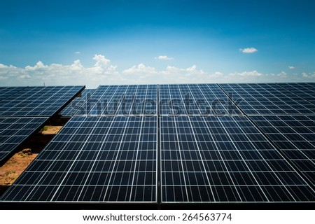 solar cell, the energy from the sun