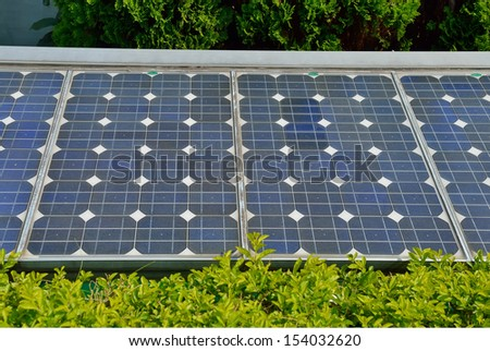 Solar cells were installed on the home - stock photo