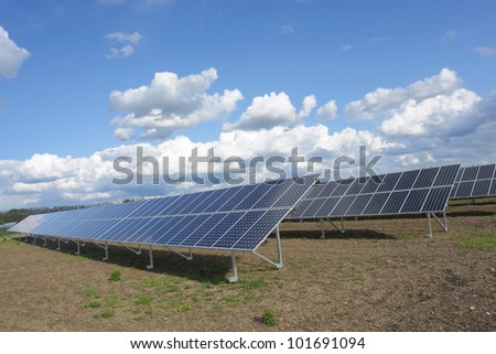 solar collector energy plant outside against sky