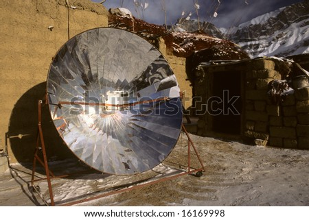 solar cooker, Zanskar, Ladakh, India