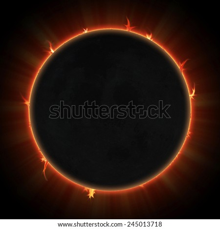 Solar eclipse. Black moon over sun. Elements of this image furnished by NASA.