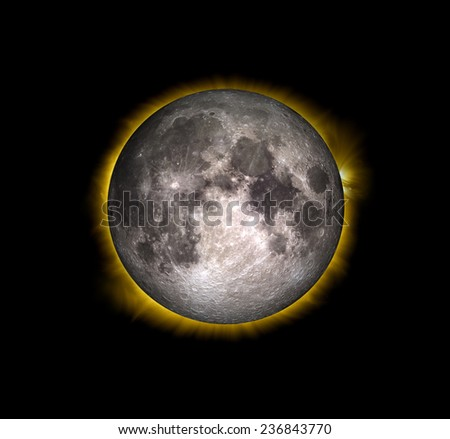 """Solar Eclipse """"Elements of this image furnished by NASA """"  - stock photo"""
