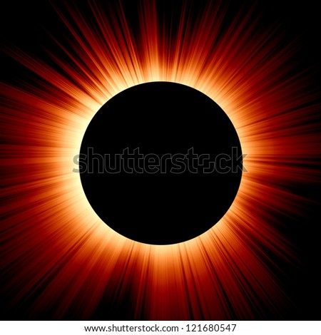 solar eclipse on a dark red background