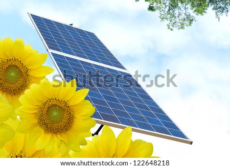 Solar energy background - stock photo