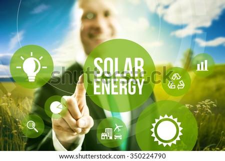 Solar energy business model concept. - stock photo