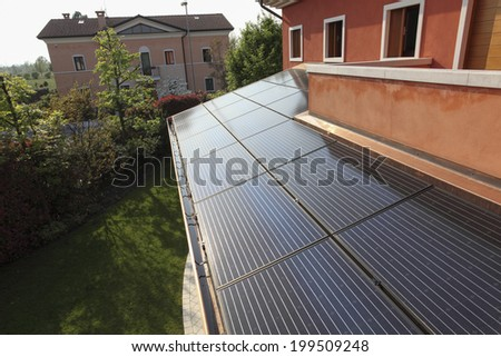 Solar energy on the cover; - stock photo