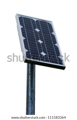 solar energy panel - isolated on white background