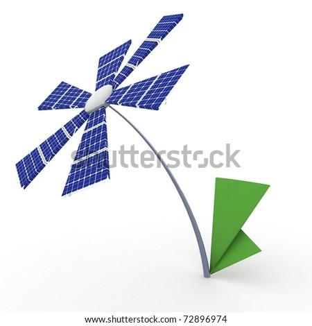 solar energy panels. - stock photo