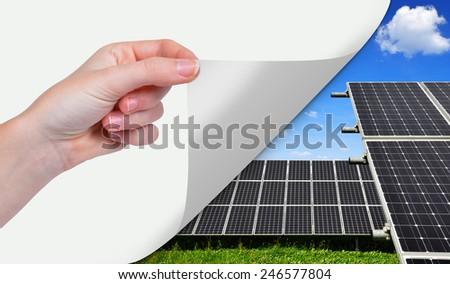 Solar energy panels. Green energy concept. - stock photo