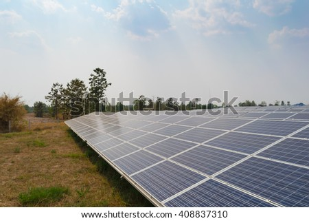 Solar energy panels, Photovoltaic for generate green energy
