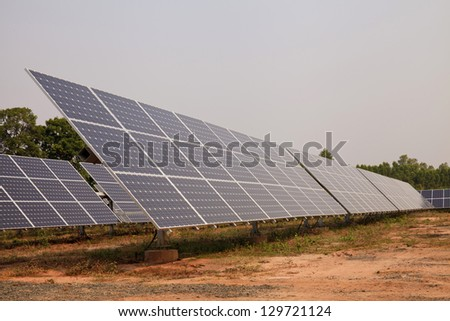 Solar energy plants - stock photo
