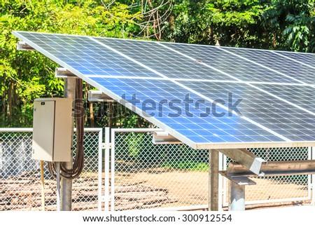 Solar energy plants - stock photo