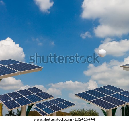 Solar energy power plant. - stock photo