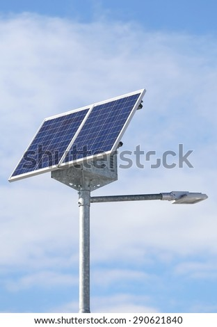 Solar energy Street lamp with photovoltaic cells