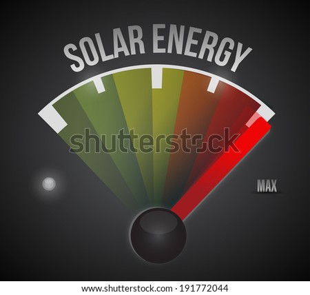 solar energy to the max illustration design over a black background - stock photo