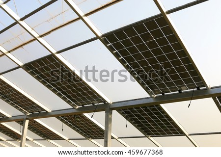 solar greenhouses, solar pv glass in a farm