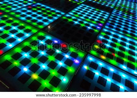 Solar panel abstract background closeup - stock photo