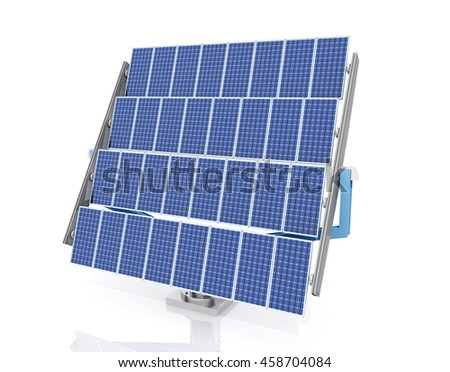Solar panel against a white background Computer generated 3D illustration