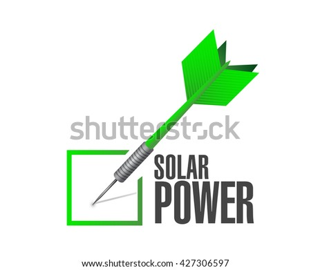 solar panel check dart sign concept illustration design graphic