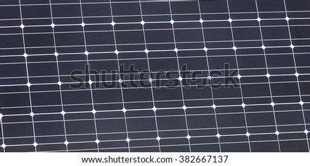 Solar Panel close-up, detail of a photovoltaic panel for renewable electric production
