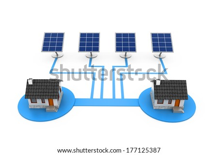 solar panel electricity supply to house