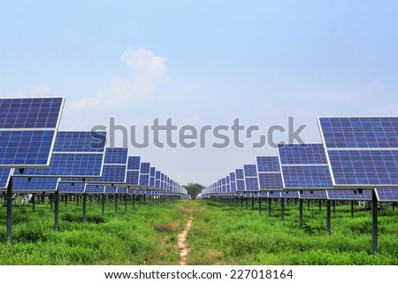solar panel for alternative  energy from the sun - stock photo