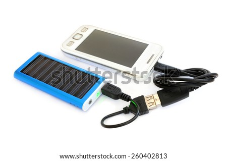 Solar panel for charging mobile phone