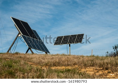 Solar panel in farm villa