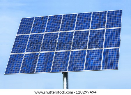 solar panel - in front of blue sky