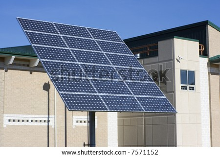 Solar panel in front of hospital